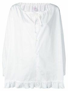 Comme Des Garçons Girl ruffled hem blouse - White
