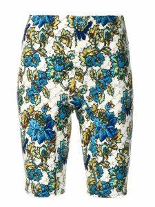 Stella McCartney floral cycling shorts - White