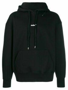 Ader Error logo print hoodie - Black