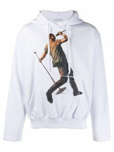 Ih Nom Uh Nit Kanye Drake print hoodie - White