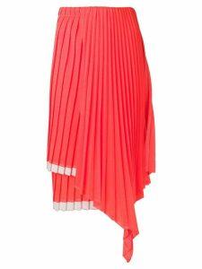 Circus Hotel layered pleated skirt - ORANGE