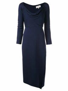Michelle Mason cowl neck midi dress - Blue