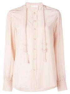 Chloé drawstring collar blouse - Pink