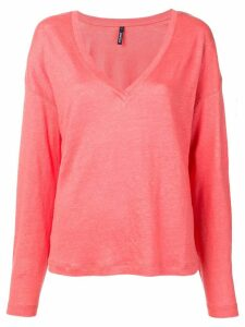 Woolrich V-neck knitted top - Pink