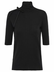 Prada knitted bow top - Black