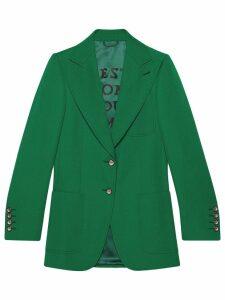 Gucci peaked lapel jacket - Green