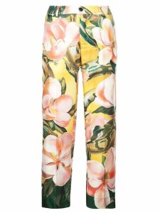 F.R.S For Restless Sleepers floral print silk trousers - Green