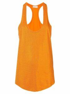 Alexandre Vauthier crystal-embellished tank top - Orange