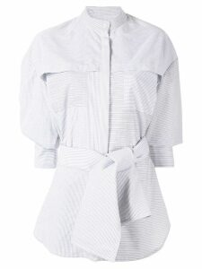 Acler Lincoln oversized striped shirt - Grey