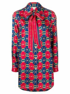 Gucci GG waves print shirt - Red