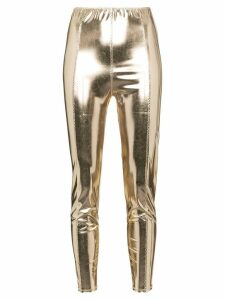 Lisa Marie Fernandez Karlie metallic leggings - GOLD