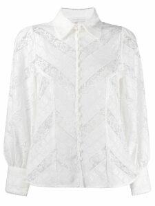 Zimmermann floral lace shirt - NEUTRALS