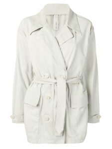 Giorgio Brato short trench coat - Grey