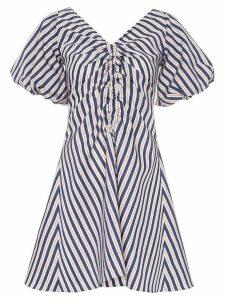 Paper London Sisi striped mini dress - Blue
