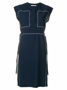 Ports 1961 stitch detail drawstring waist dress - Blue