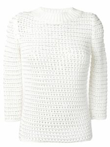 Ermanno Scervino crochet jumper - White