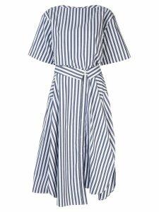 Juun.J striped midi dress - White