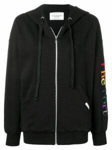 Forte Dei Marmi Couture front zip hoodie - Black