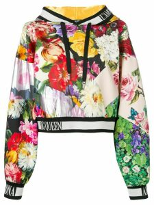 Dolce & Gabbana floral print hoodie - Black