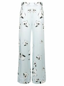 Genny floral print trousers - Blue