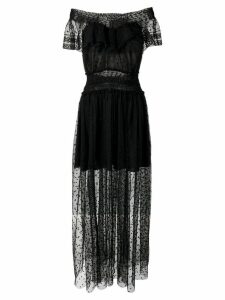 Philosophy Di Lorenzo Serafini embroidered tulle dress - Black