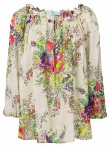 Blumarine floral loose fit blouse - Neutrals