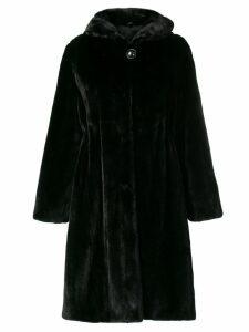 Liska hooded midi coat - Black