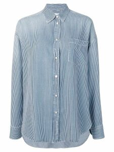 Ermanno Scervino oversized striped shirt - Blue
