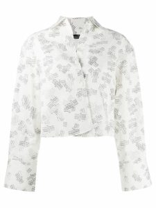 Rokh logo stamped blouse - White