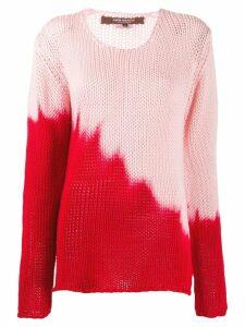 Junya Watanabe dip die knitted sweater - PINK
