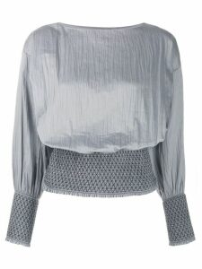 Totême Orsaria ruched waist top - Grey