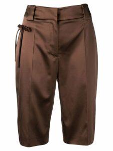 Prada bow Bermuda shorts - Brown