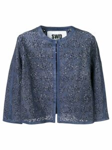S.W.O.R.D 6.6.44 cropped cardigan - Blue