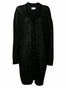 Maison Margiela oversized draped cardigan - Black