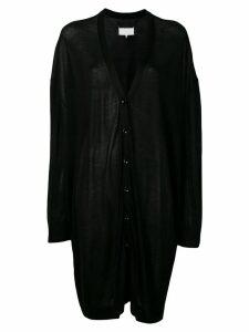 Maison Margiela oversized draped cardigan - Black