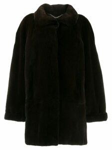 Liska collared coat - Brown