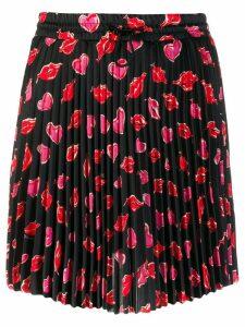 Moncler printed pleated skirt - Black