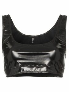 Lisa Marie Fernandez Zani PVC crop top - Black