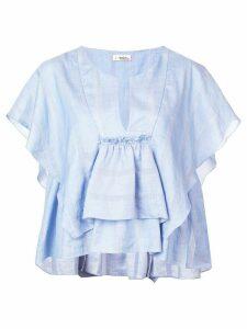 lemlem Bekele drape top - Blue