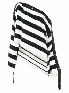 Monse striped off shoulder sweater - White