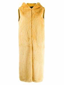 Liska sleeveless hooded coat - Yellow