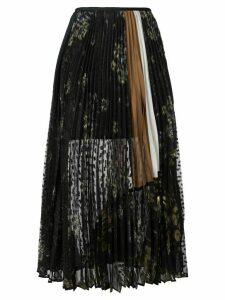 Mame Kurogouchi floral print pleated skirt - Black