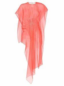 Poiret asymmetric sheer top - Pink