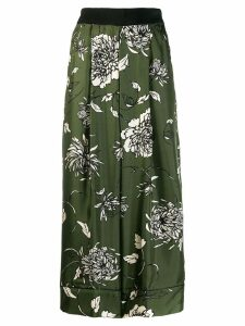 Moncler floral tailored trousers - Green