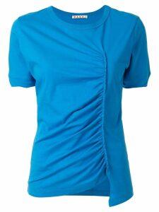 Marni ruched T-shirt - Blue