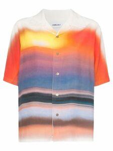Ambush Hawaiian tie-dye short-sleeved shirt - ORANGE SC32