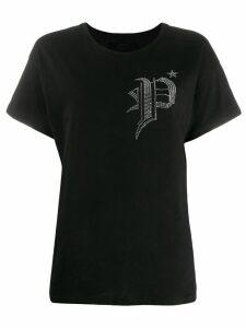 Philipp Plein sequin logo T-shirt - Black