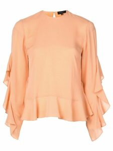 Robert Rodriguez Studio ruffle sleeved blouse - ORANGE