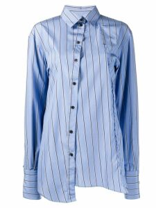 Rokh striped asymmetric shirt - Blue
