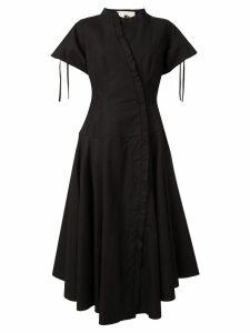 Aganovich flared shirt dress - Black